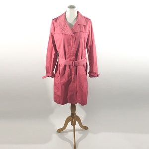 Talbots Women's Trench Coat Pink Size 14